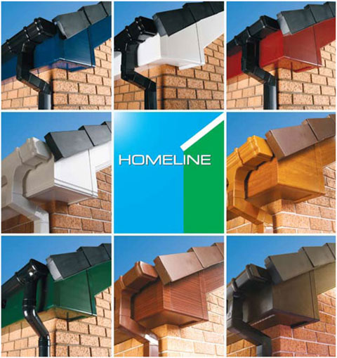 Homeline: coloured PVCU fittings